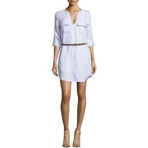 Joie Blue Rathana Belted Linen Dress